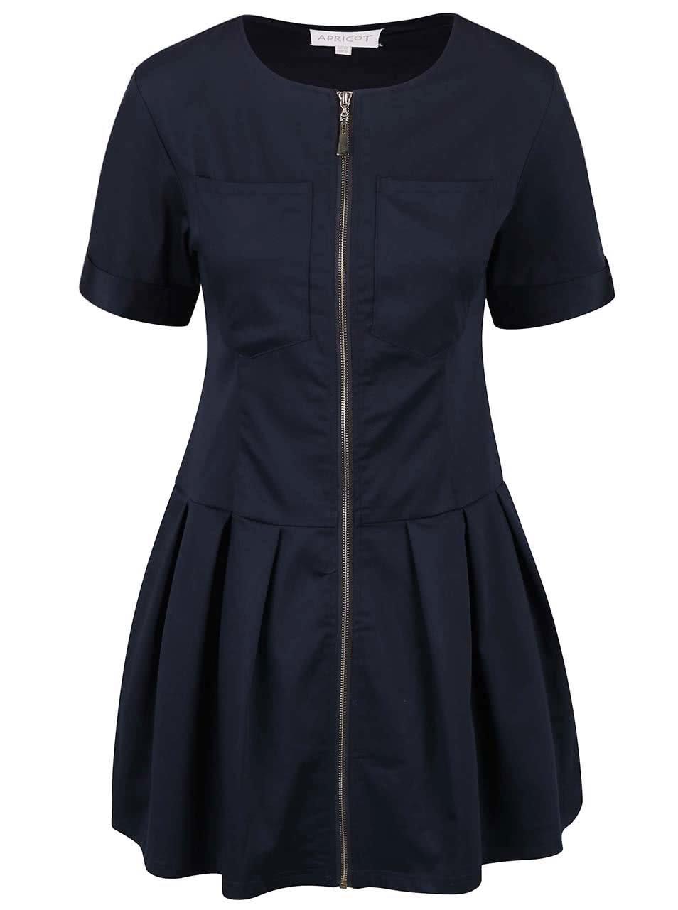Tmavě modré šaty na zip Apricot