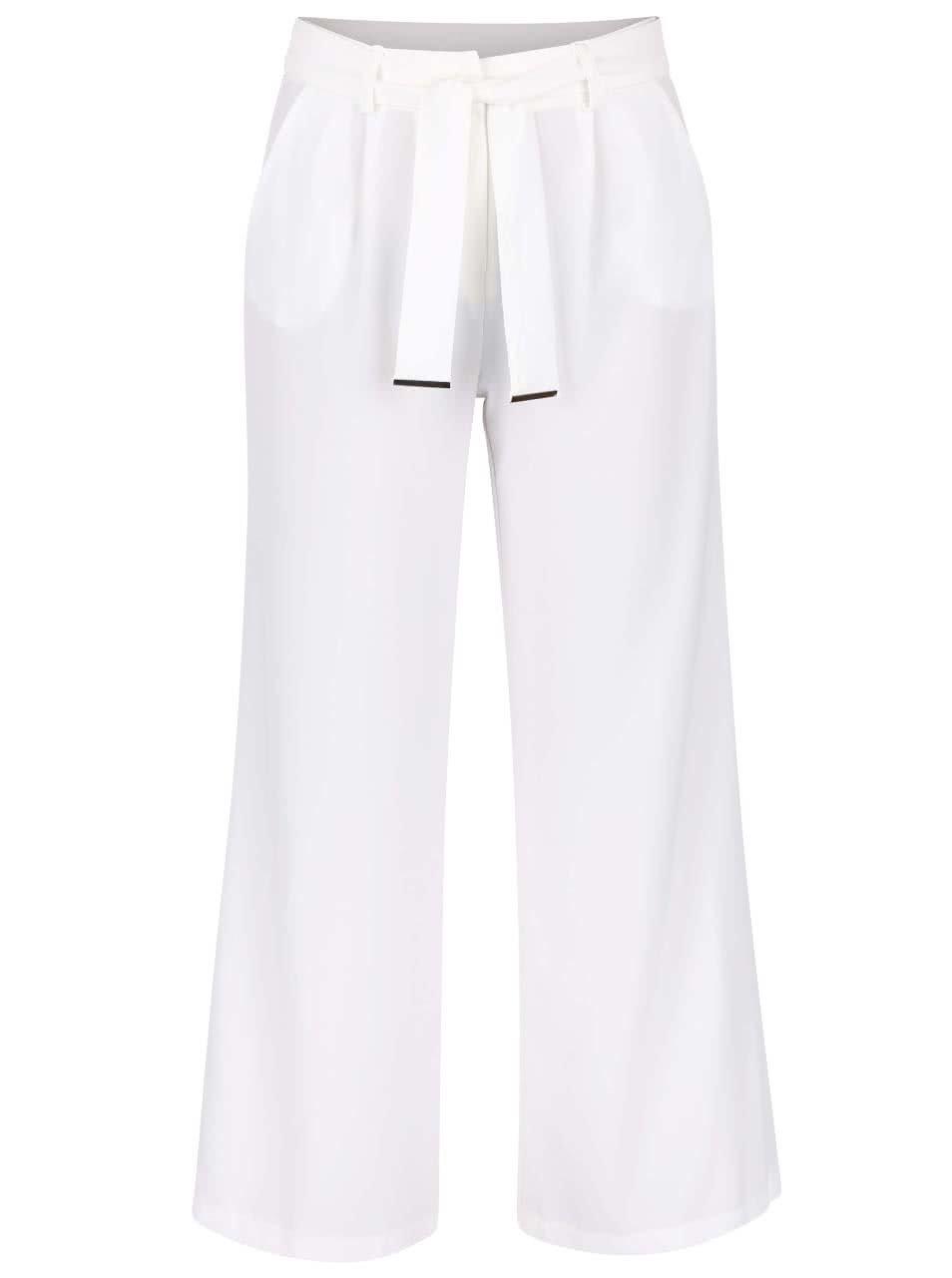 Krémové volné kalhoty s páskem Dorothy Perkins