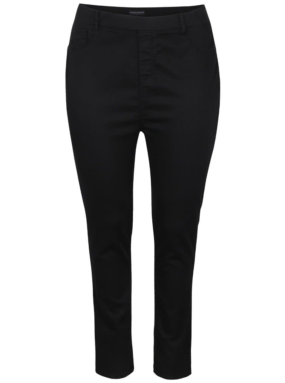 Černé elastické skinny džíny Dorothy Perkins Curve