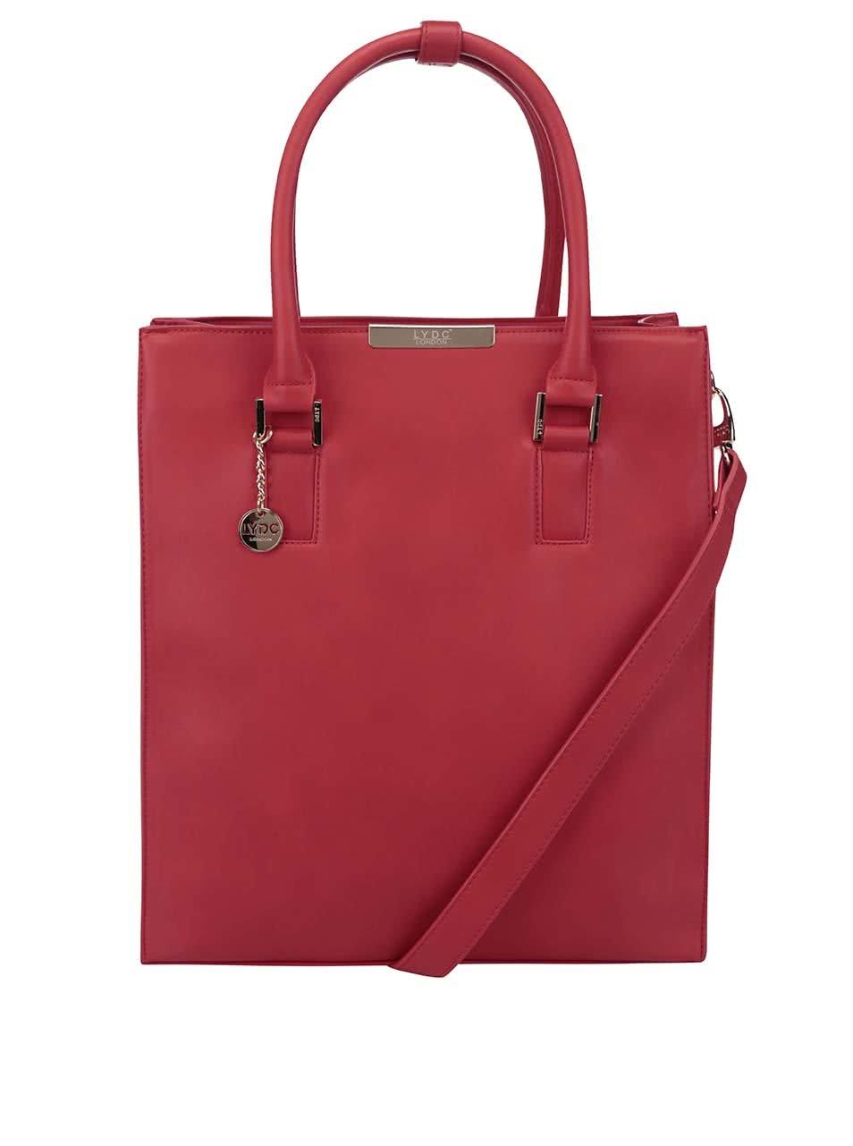 Červená obdelníková kabelka do ruky LYDC