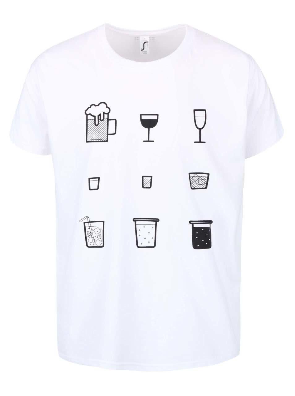 Bílé pánské triko ZOOT Originál Drinks