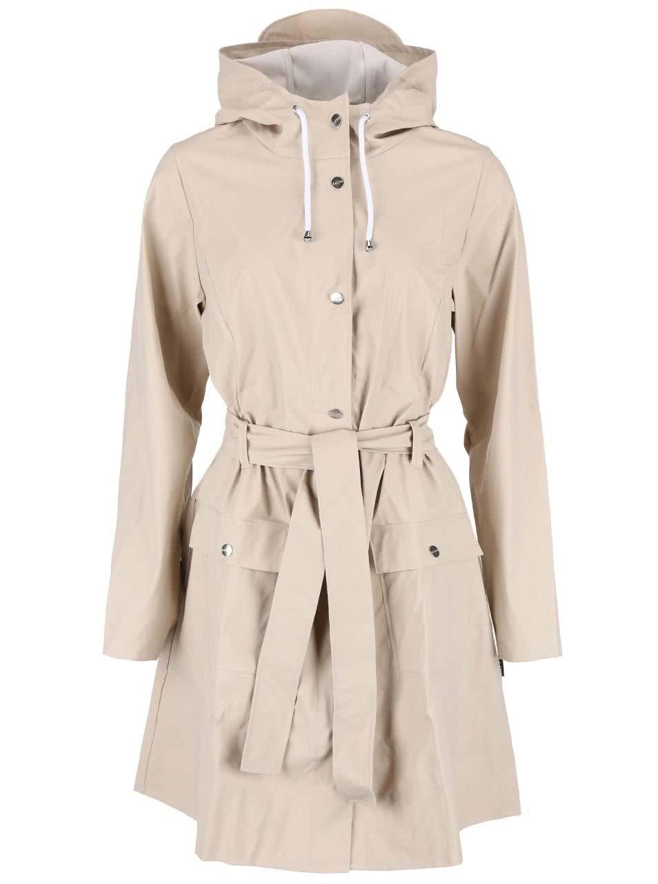 Béžový dámský nepromokavý kabát RAINS