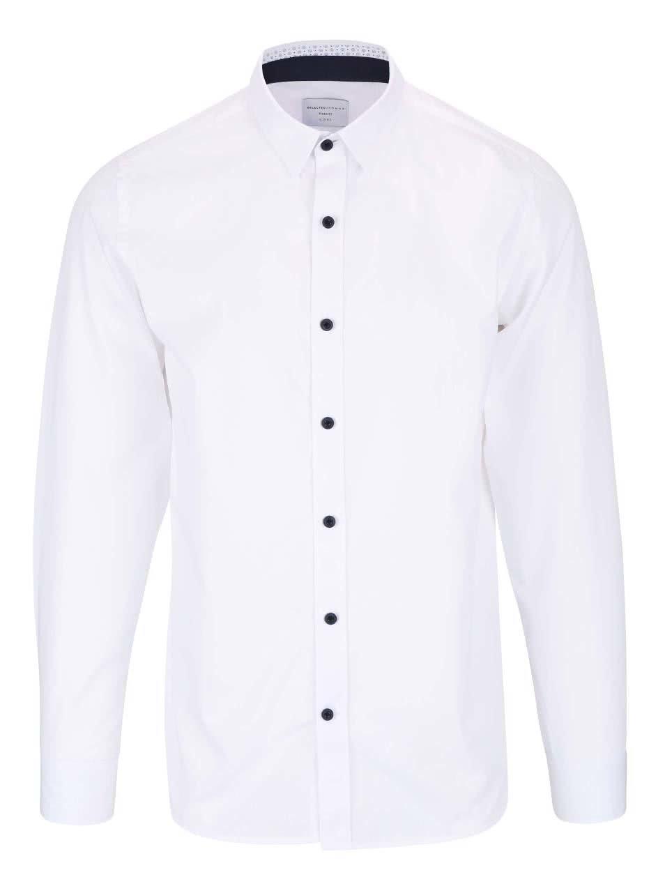 Bílá slim fit košile Selected Homme Xoneandy