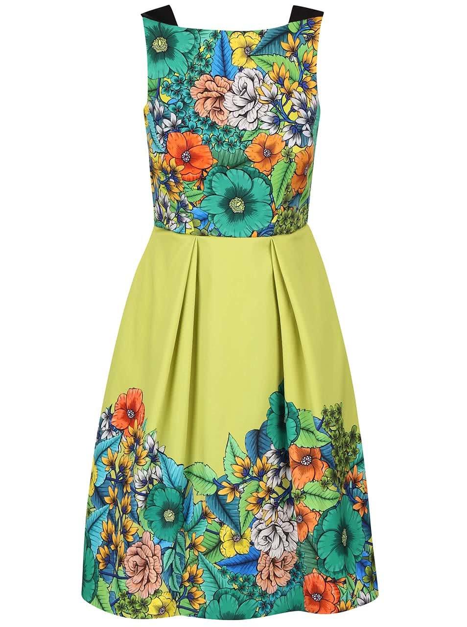 Světle zelené šaty s květinovým vzorem Closet