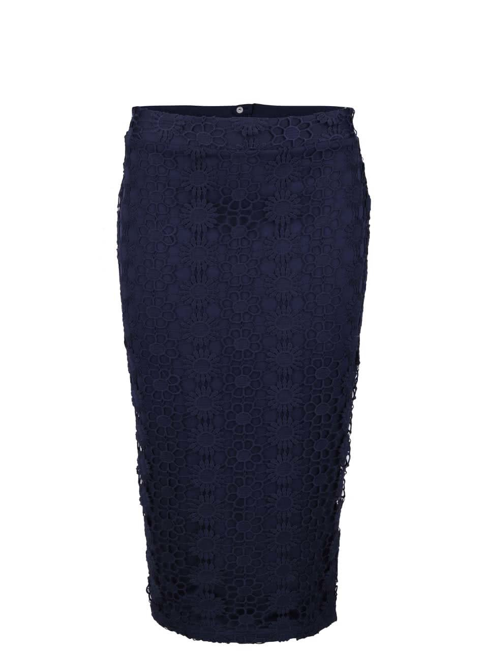 Fialová pouzdrová sukně s vyšším pasem Dorothy Perkins