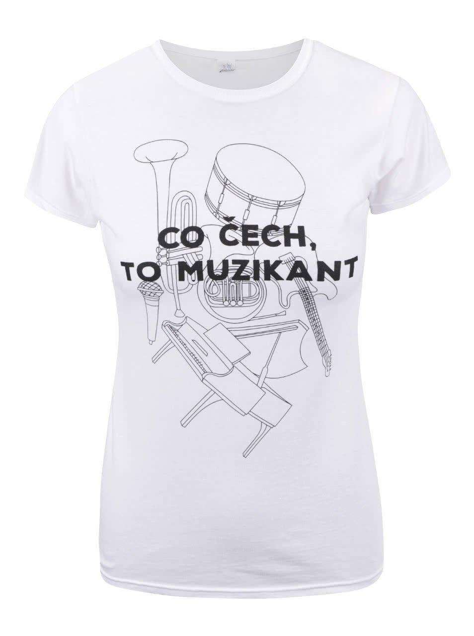 Bílé dámské volnější tričko ZOOT Originál Co čech