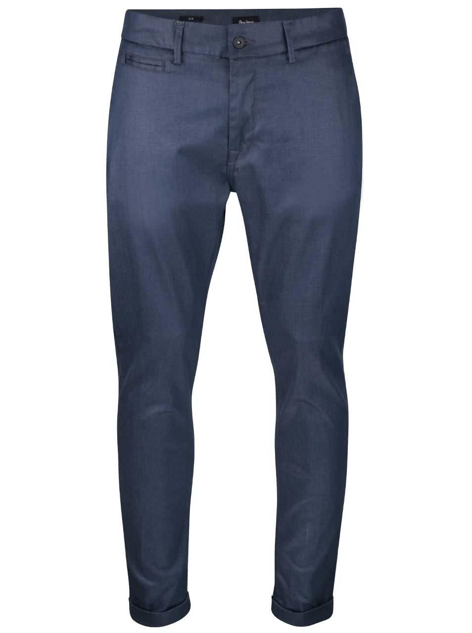Tmavě modré pánské slim chino kalhoty Pepe Jeans Colin