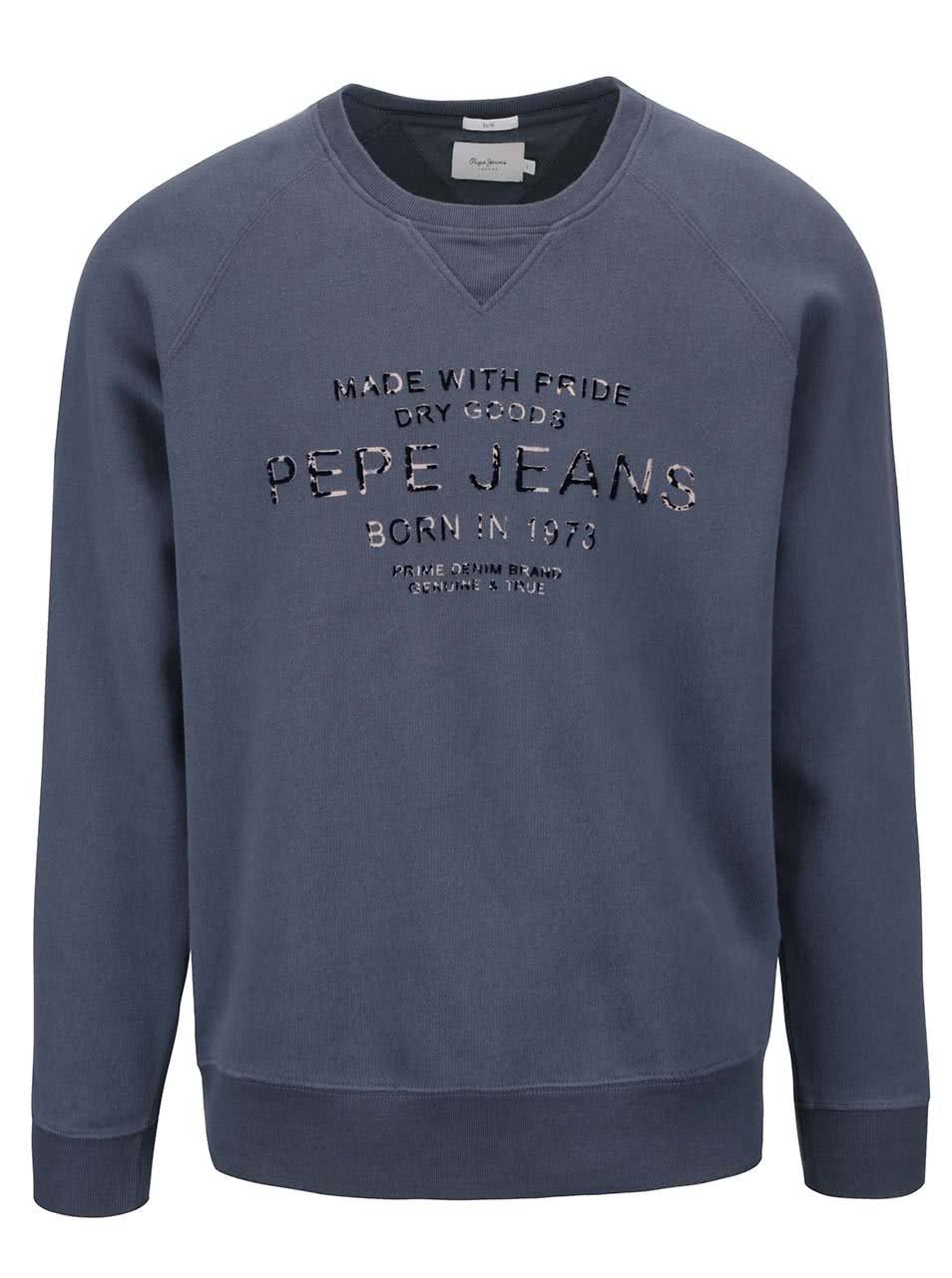 dd85f6384a3 Modrošedá pánská mikina Pepe Jeans Zelus – MUŽI   Svetry a Mikiny   mikiny