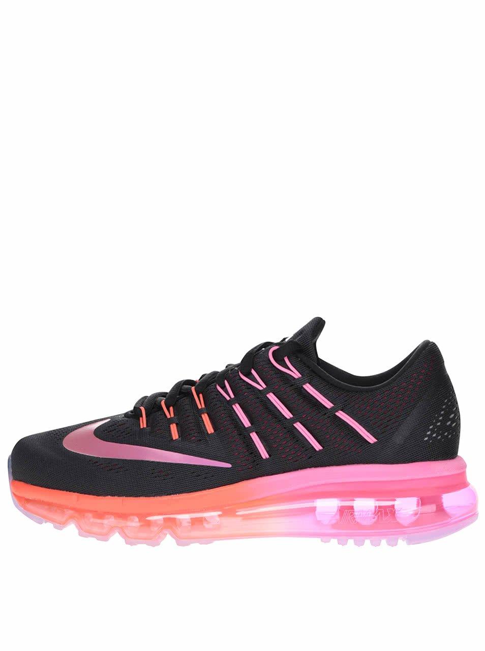 Černo-růžové dámské tenisky Nike Air Max 2016