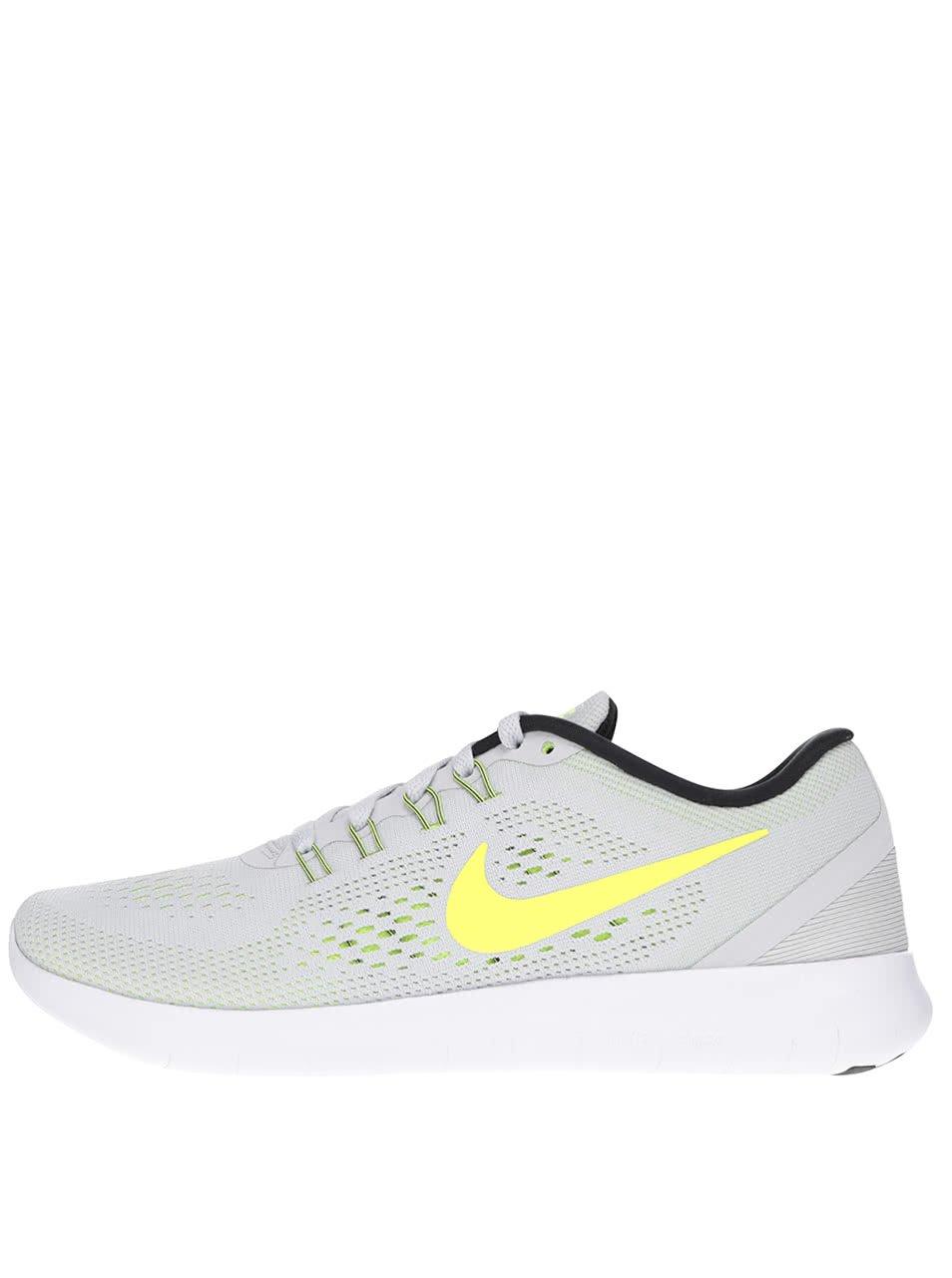 Světle šedé dámské tenisky Nike Free RN
