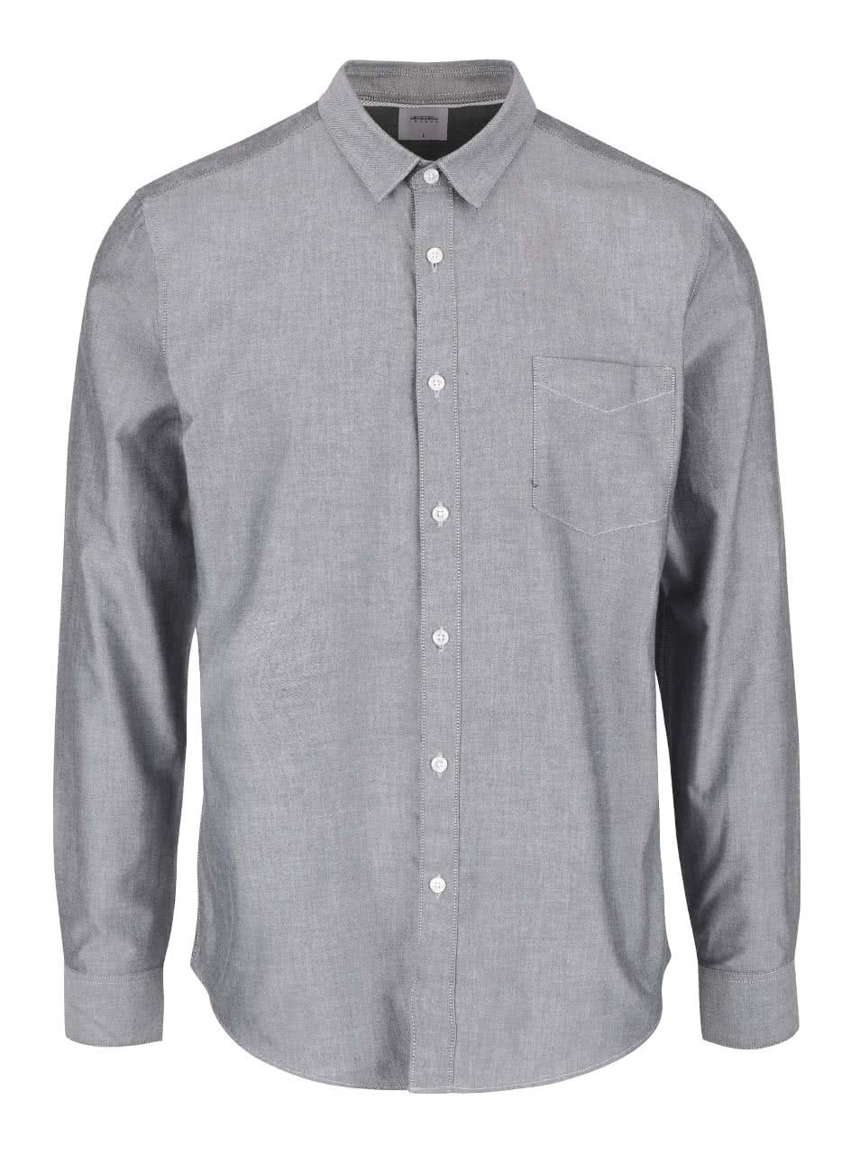 Šedá košile s kapsou Burton Menswear London