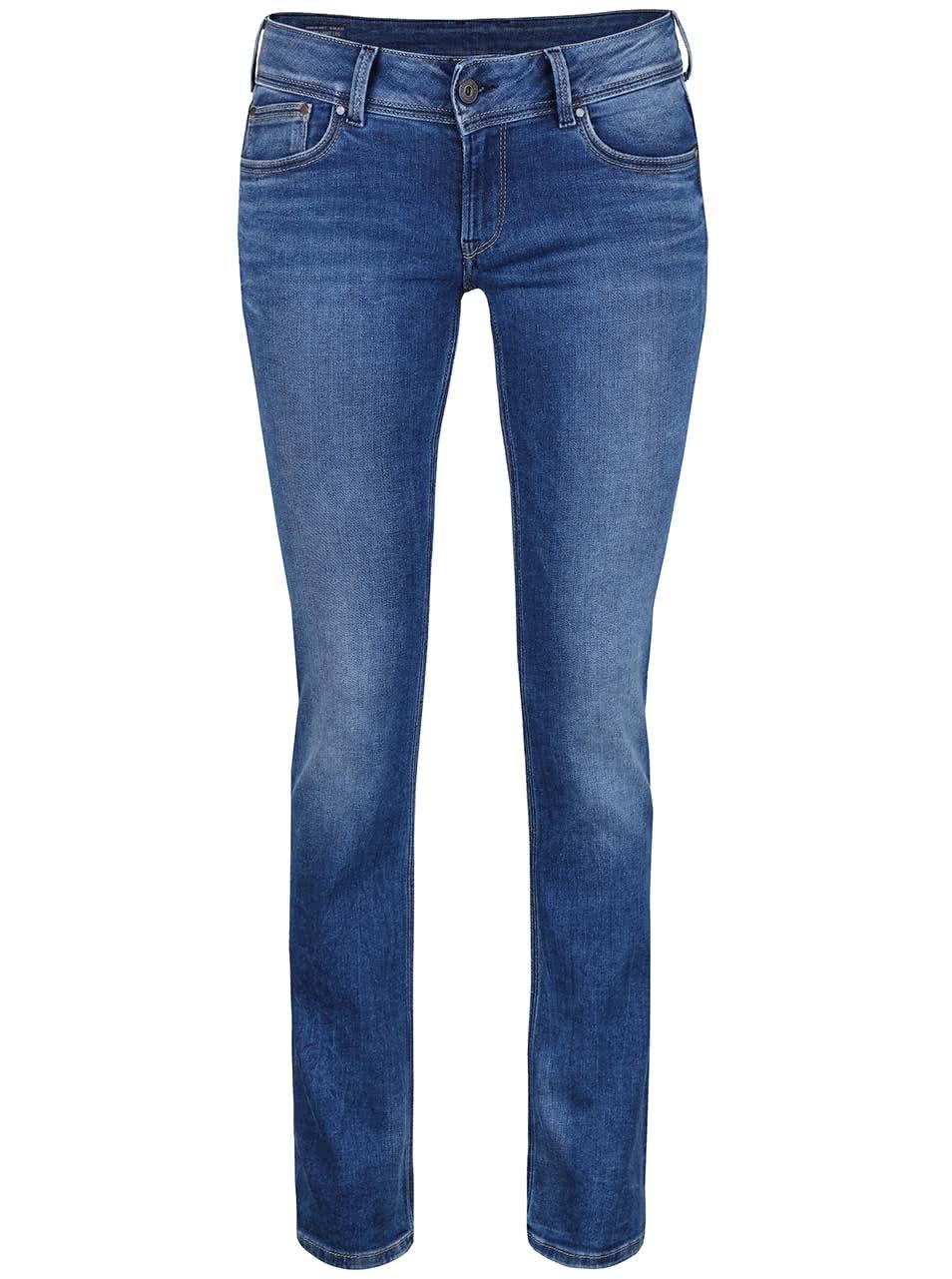 Modré dámské rovné džíny Pepe Jeans Saturn