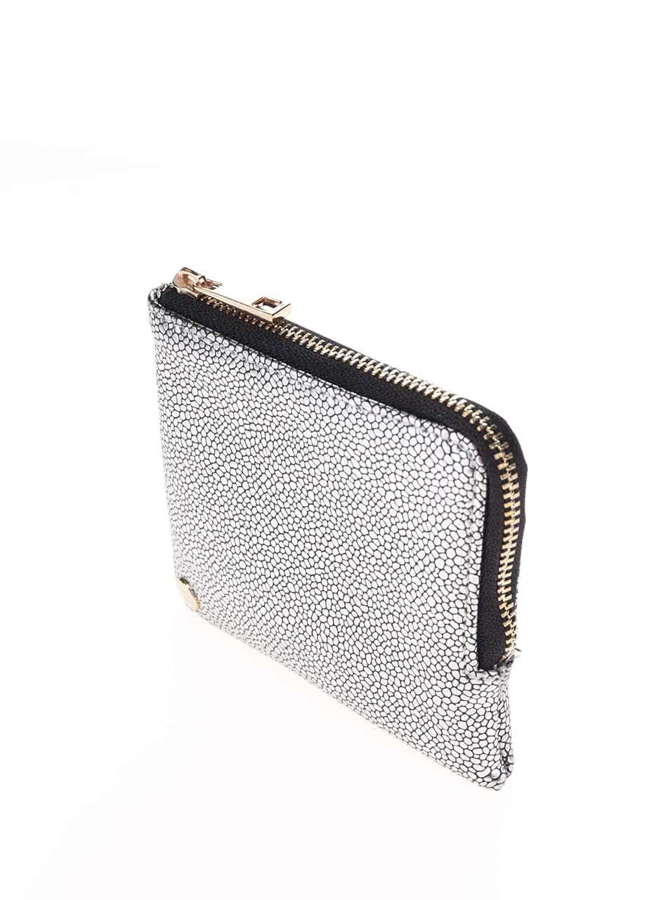Lesklá vzorovaná peňaženka v striebornej farbe Mi- Pac Coin Holder  ZOOT.sk