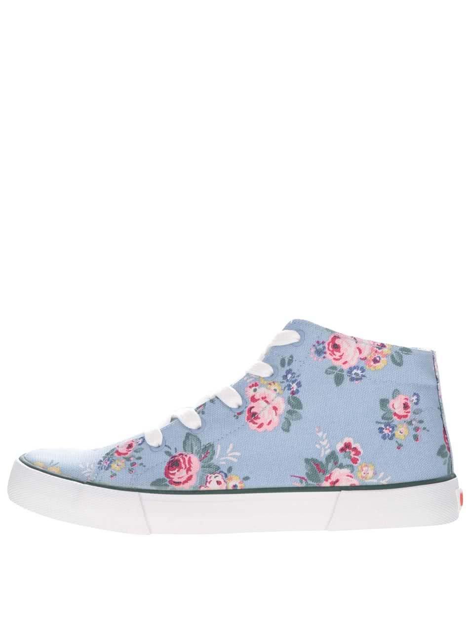 Modré dámské kotníkové tenisky s květinovým vzorem Cath Kidston