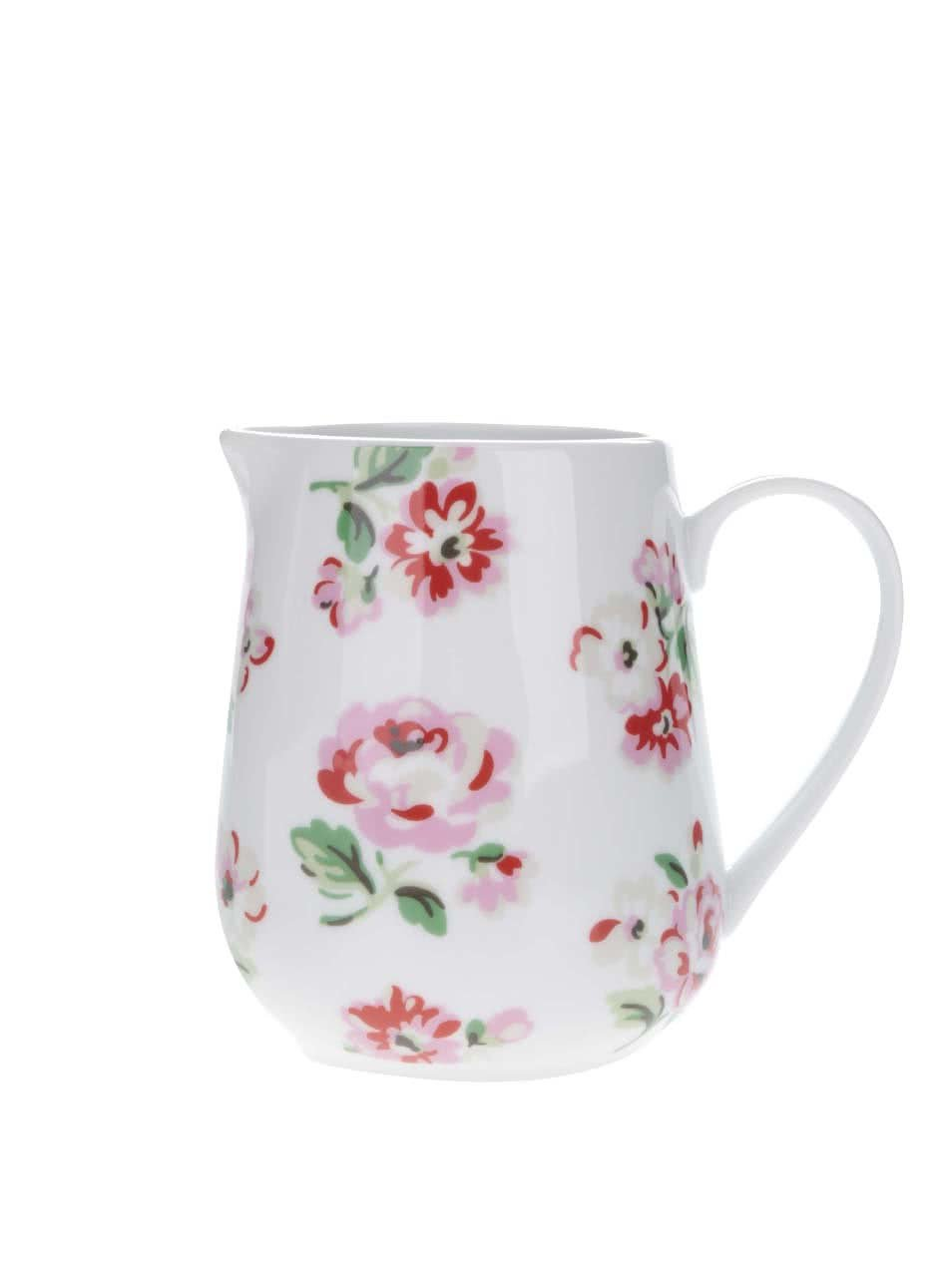 Bílá konvička na mléko s potiskem květin Cath Kidston