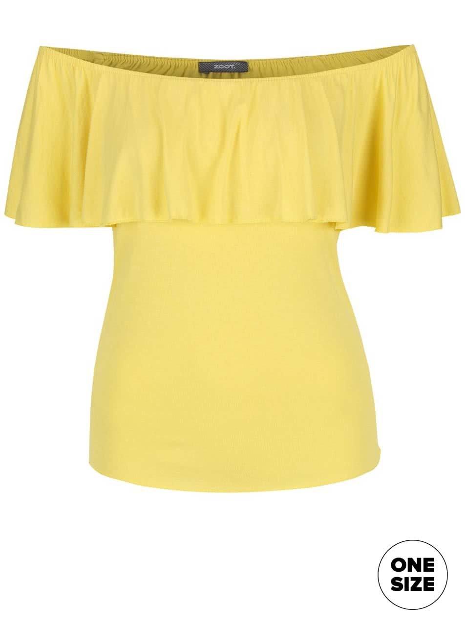 Žluté tričko s odhalenými rameny ZOOT simple