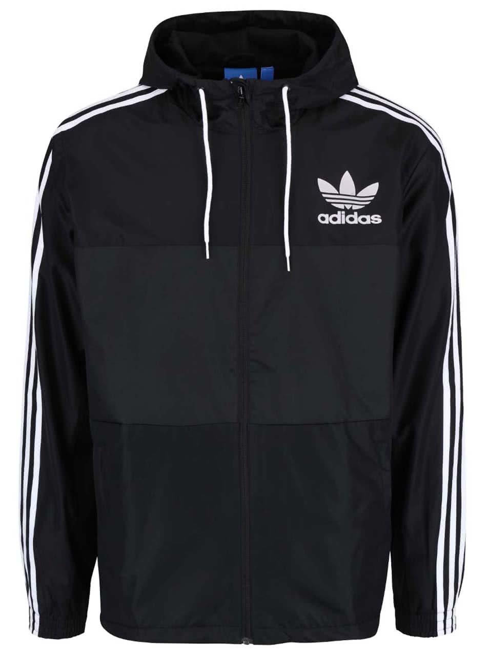 Černá pánská lehká bunda s kapucí adidas Originals CLFN