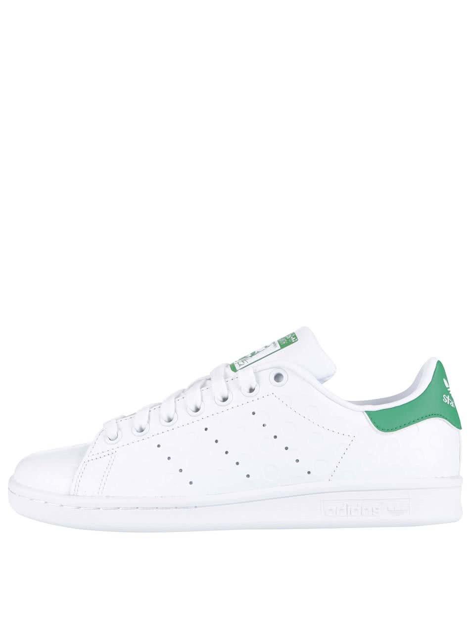 Bílé dámské kožené tenisky s plastickým vzorem adidas Originals Stan Smith