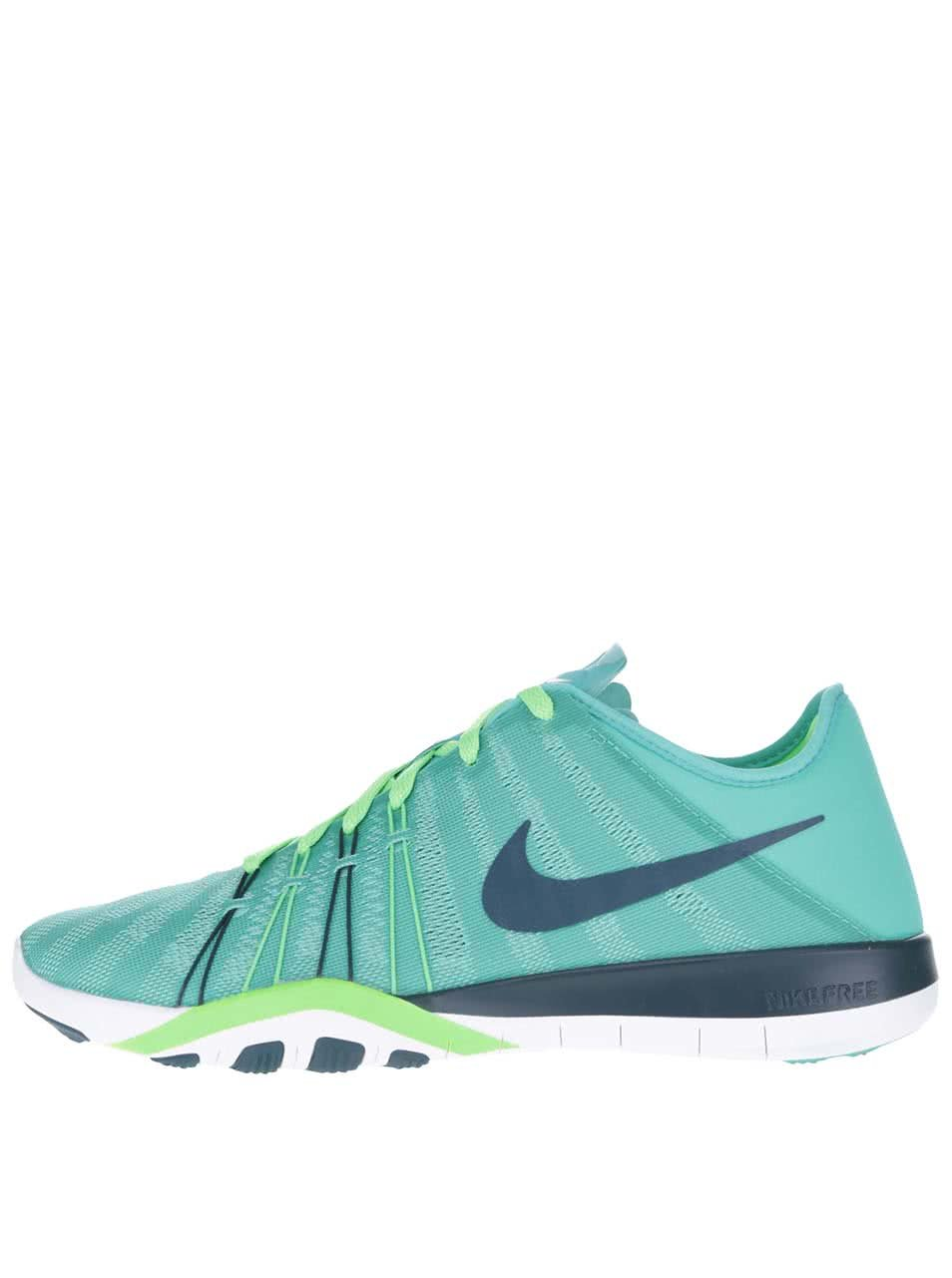 Zeleno-modré dámské tenisky Nike Free 6