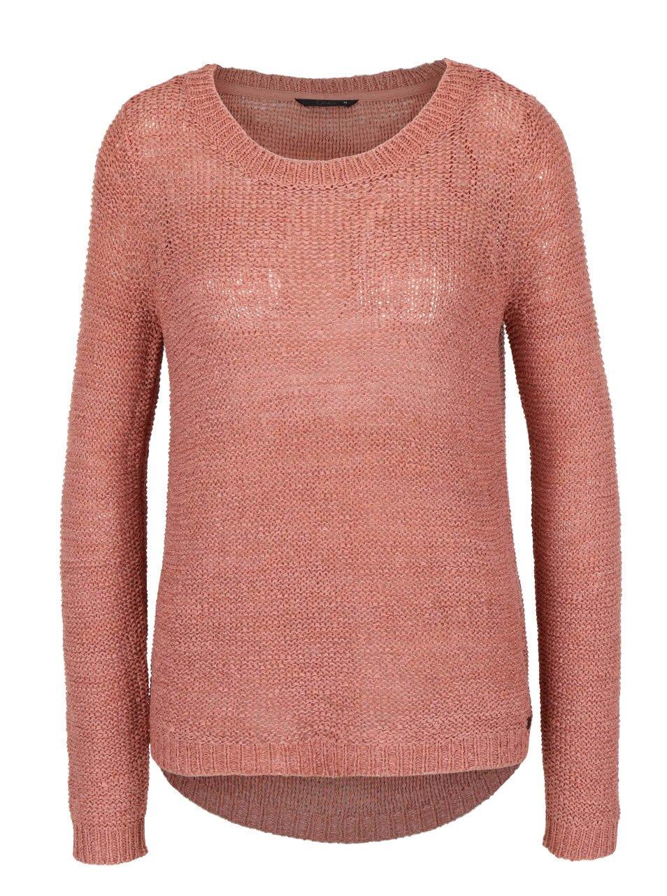 Starorůžový pletený svetr ONLY Geena