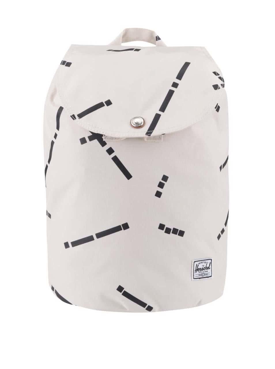Béžový menší dámský vzorovaný batoh Herschel Reid 10,5 l