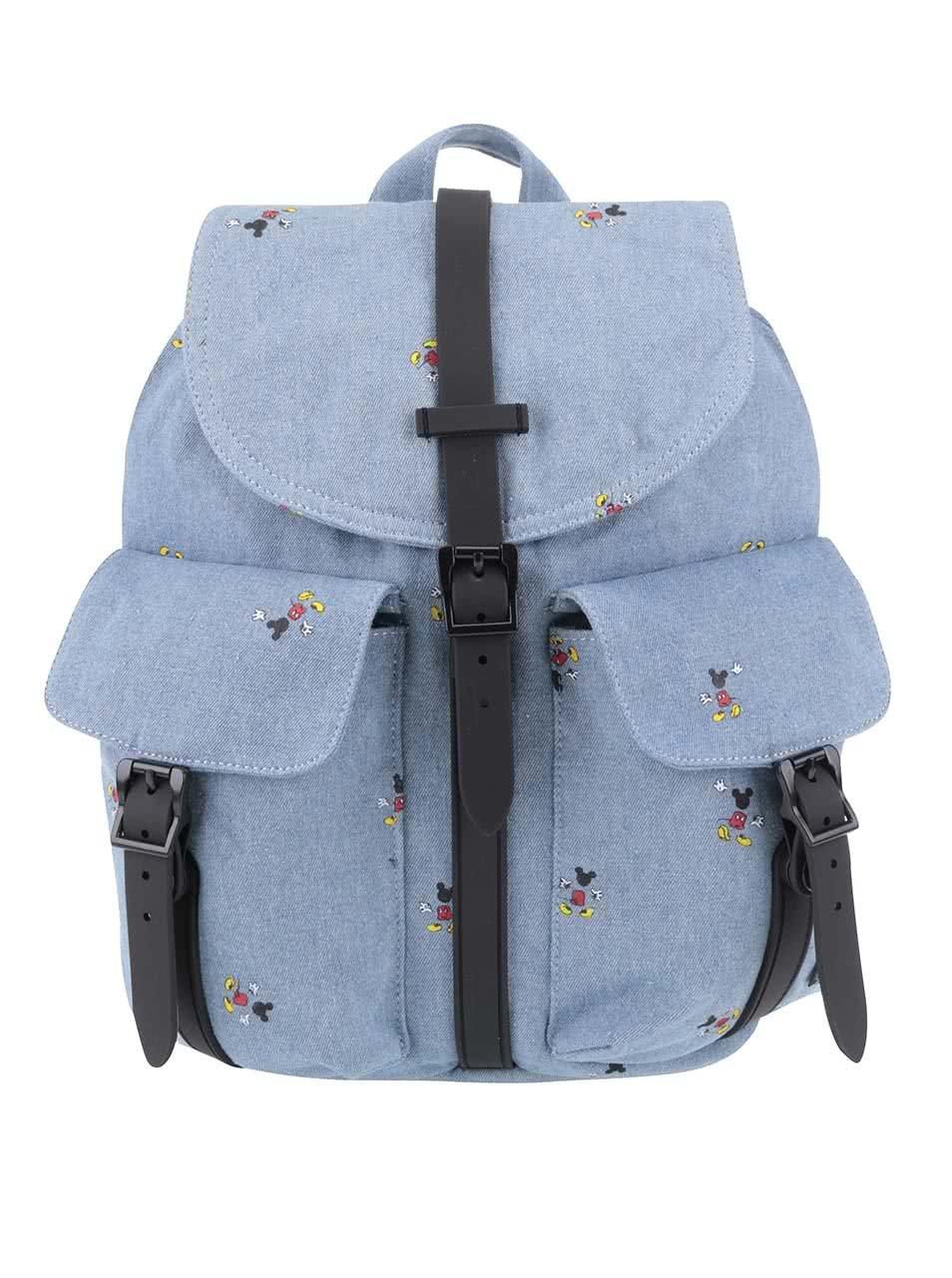 Modrý dámský batoh s potiskem Mickey Mouse Herschel Dawson 13 l