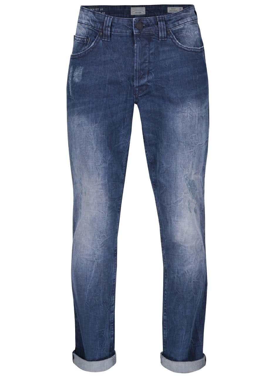 Tmavě modré džíny s ošoupaným efektem ONLY & SONS Weft
