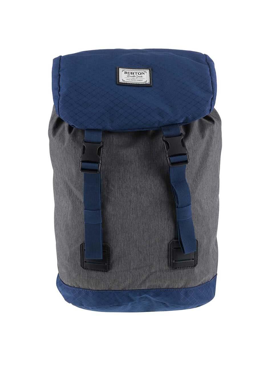 Modro-šedý žíhaný dětský batoh Burton Tinder