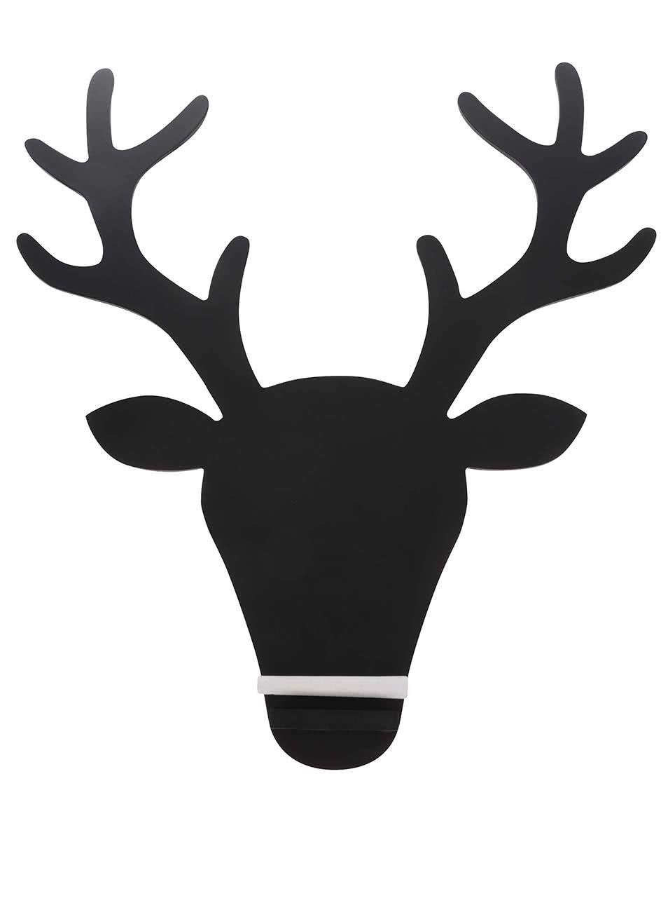 Černá tabule s jelení hlavou Sass & Belle