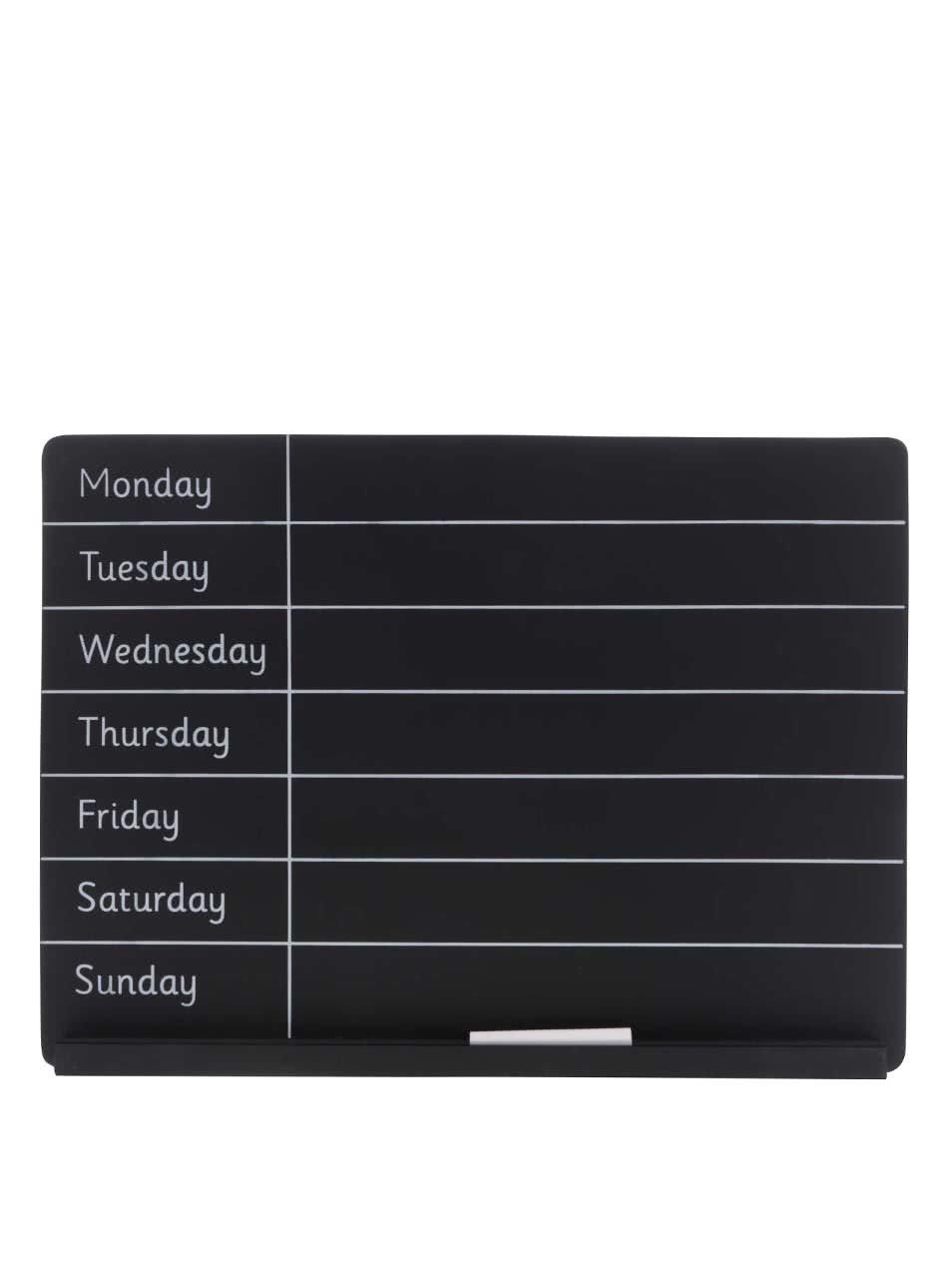 Černá týdenní plánovací tabule Sass & Belle