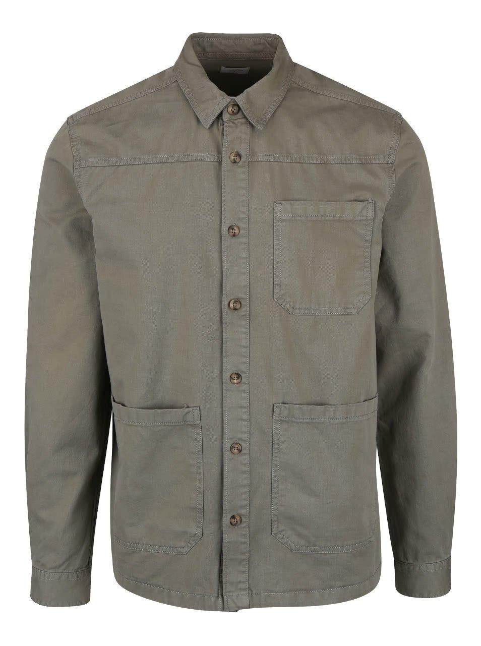 Khaki lehká bunda Burton Menswear London