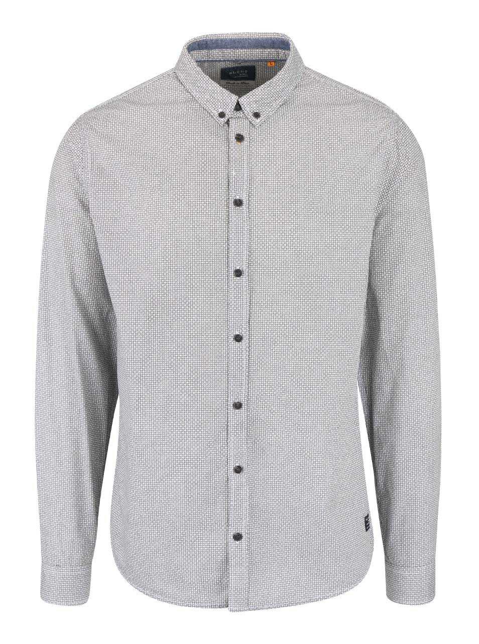 Krémovo-černá vzorovaná košile Blend