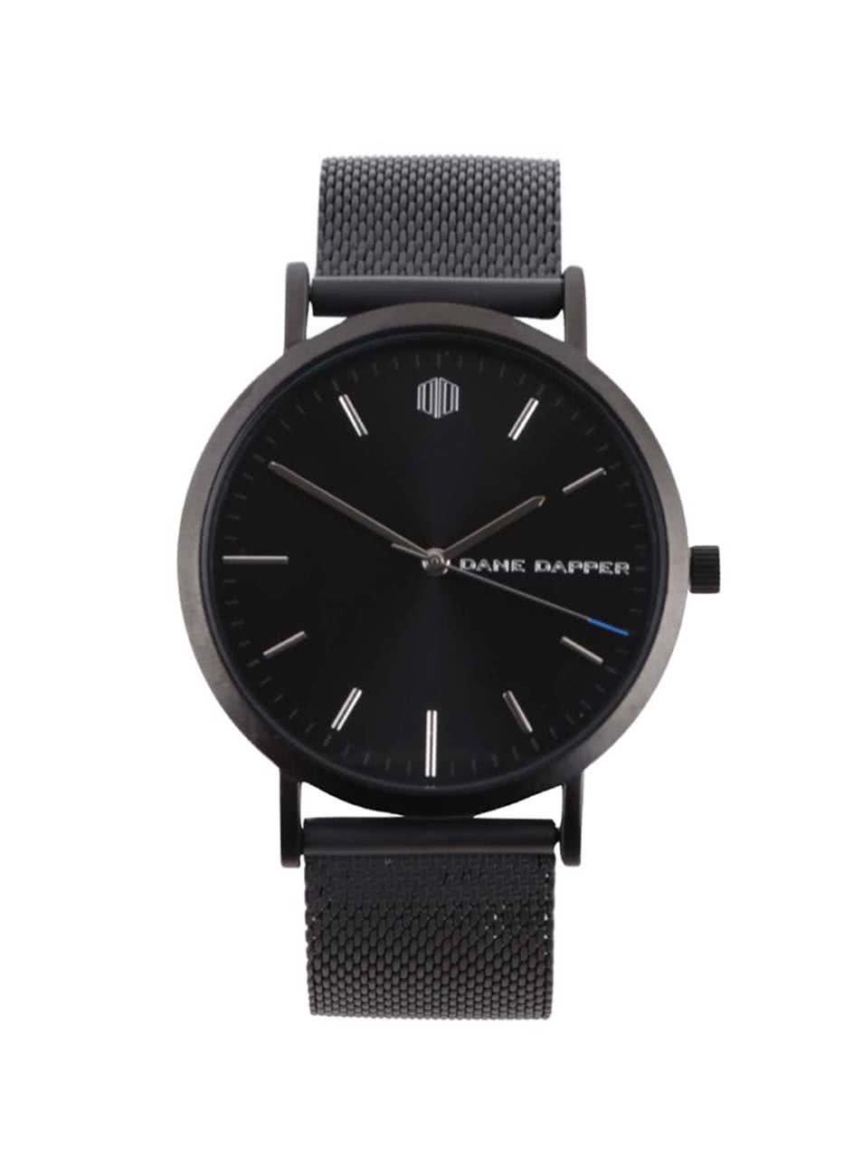 Tmavě šedé pánské hodinky s nerezovým páskem Lucleon August