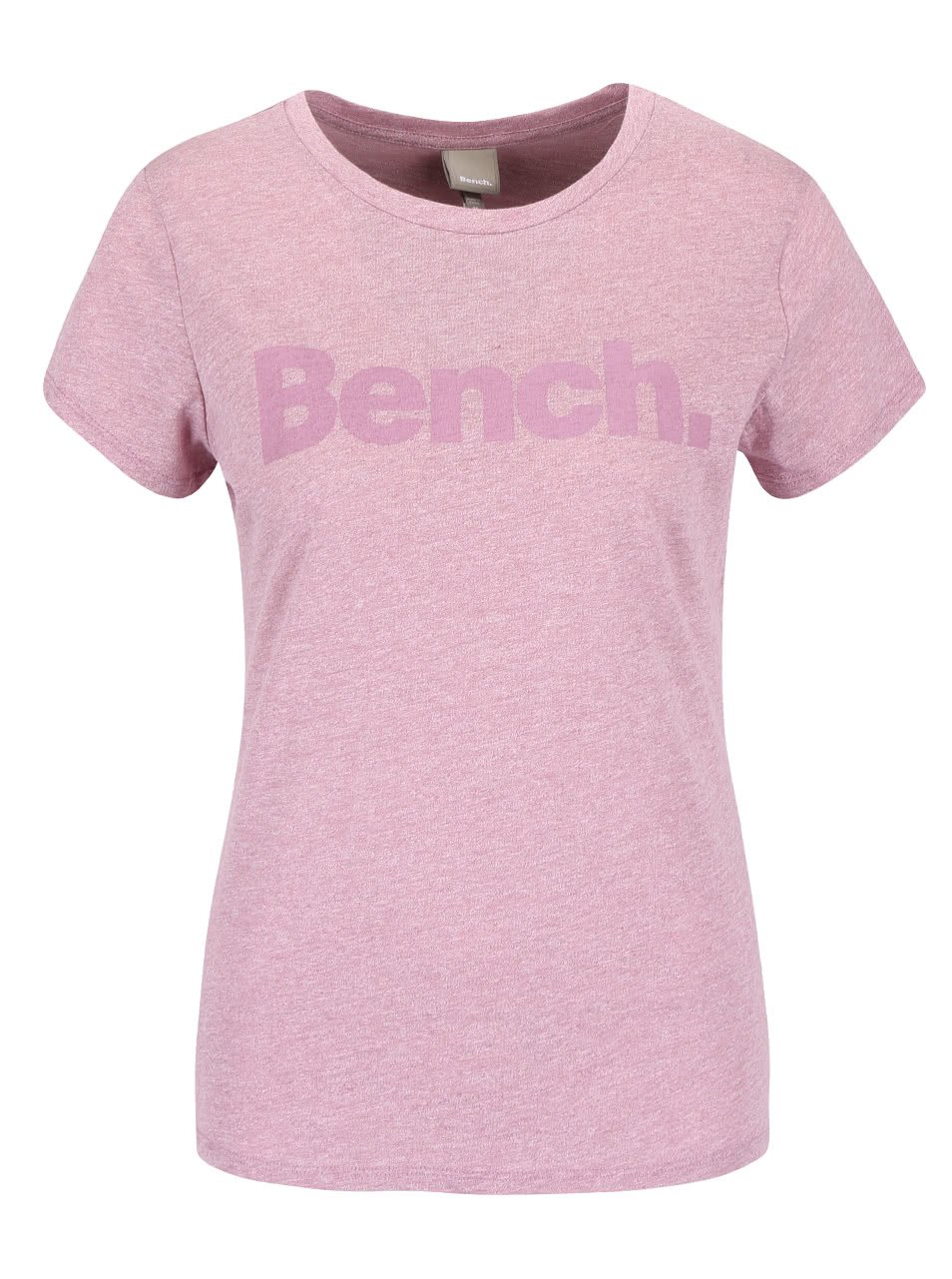 Růžové žíhané dámské tričko s potiskem Bench