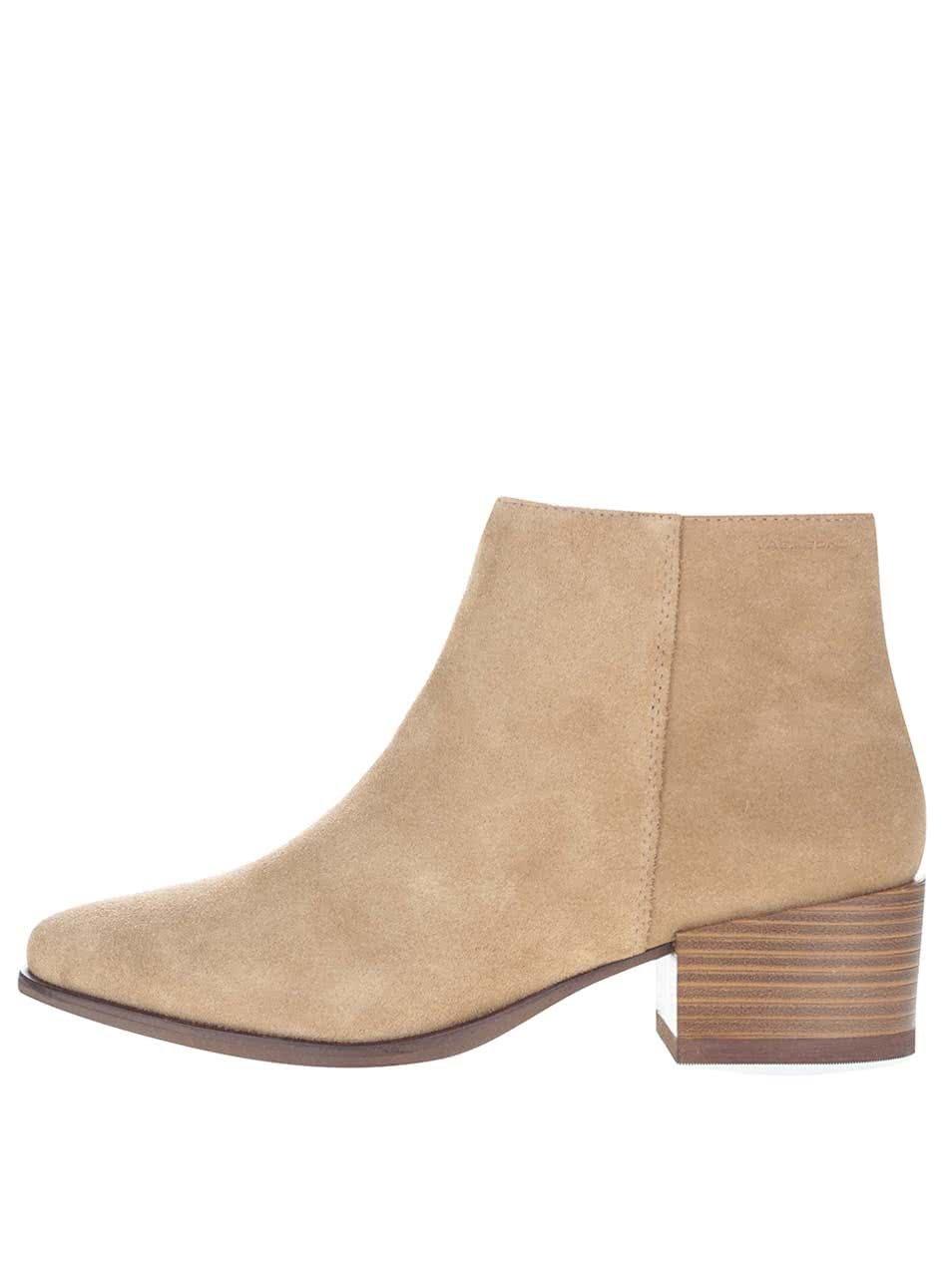 Béžové dámské semišové kotníkové boty Vagabond Marja
