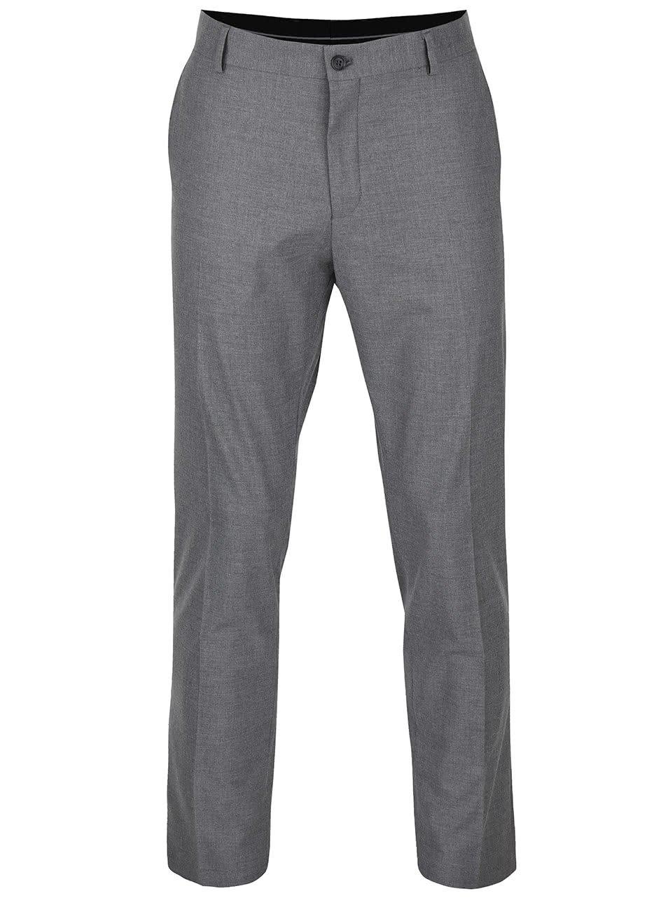 Šedé žíhané formální kalhoty Selected Homme New One
