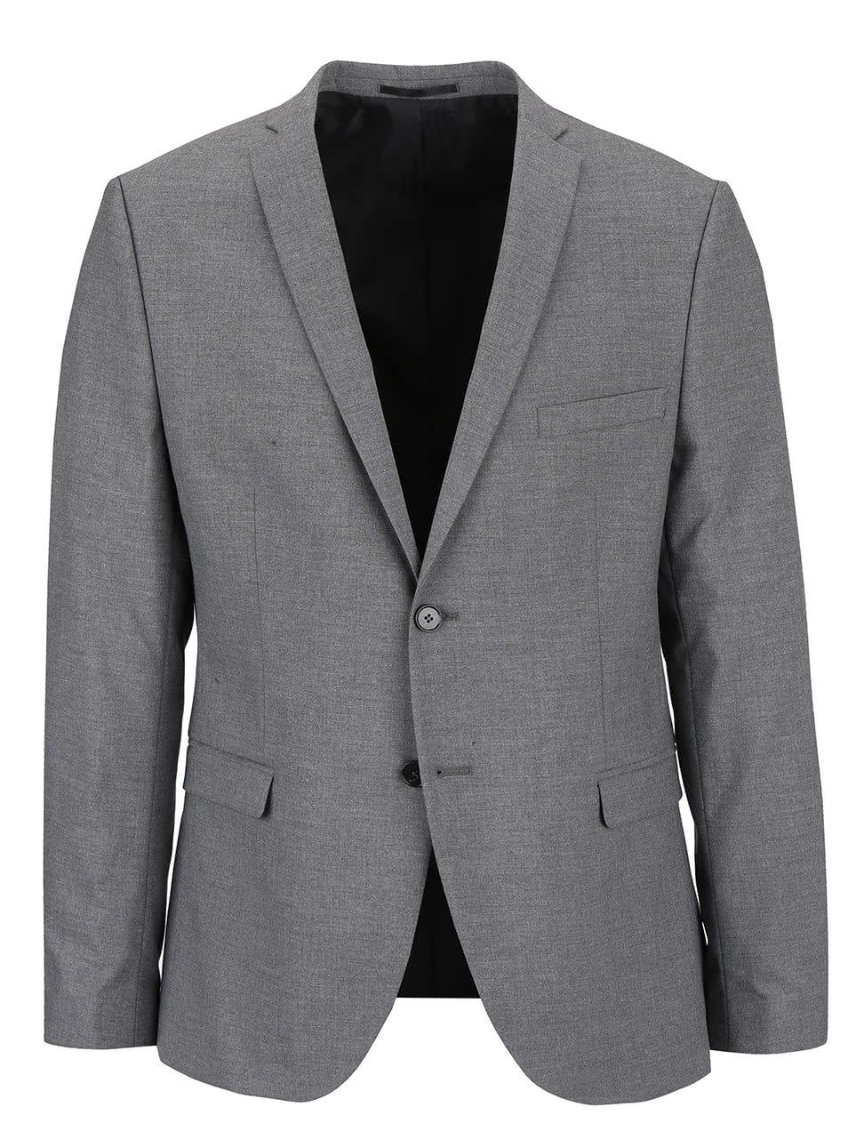 Šedé oblekové sako Selected Homme New One