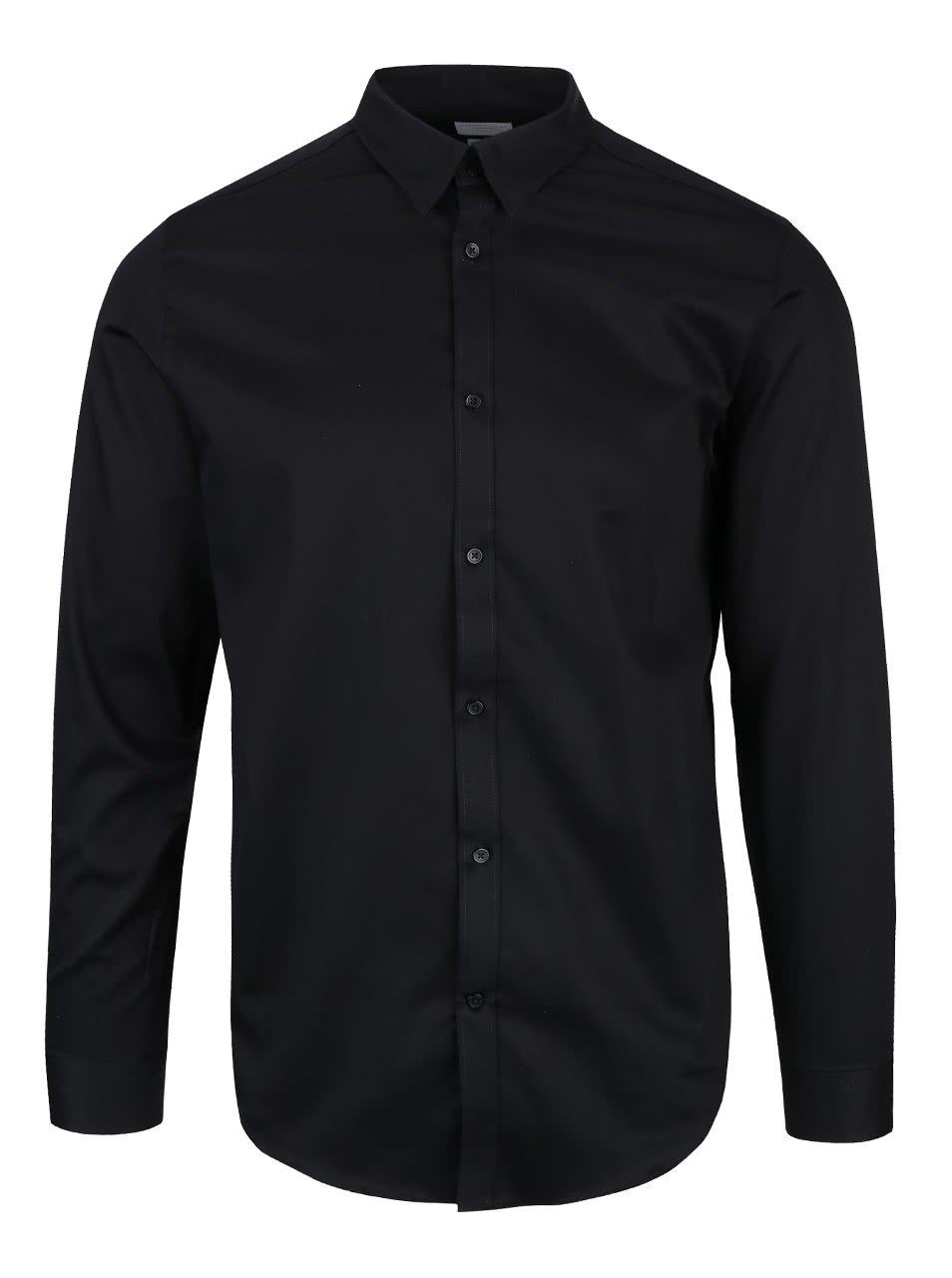Černá slim fit košile Selected Homme Done