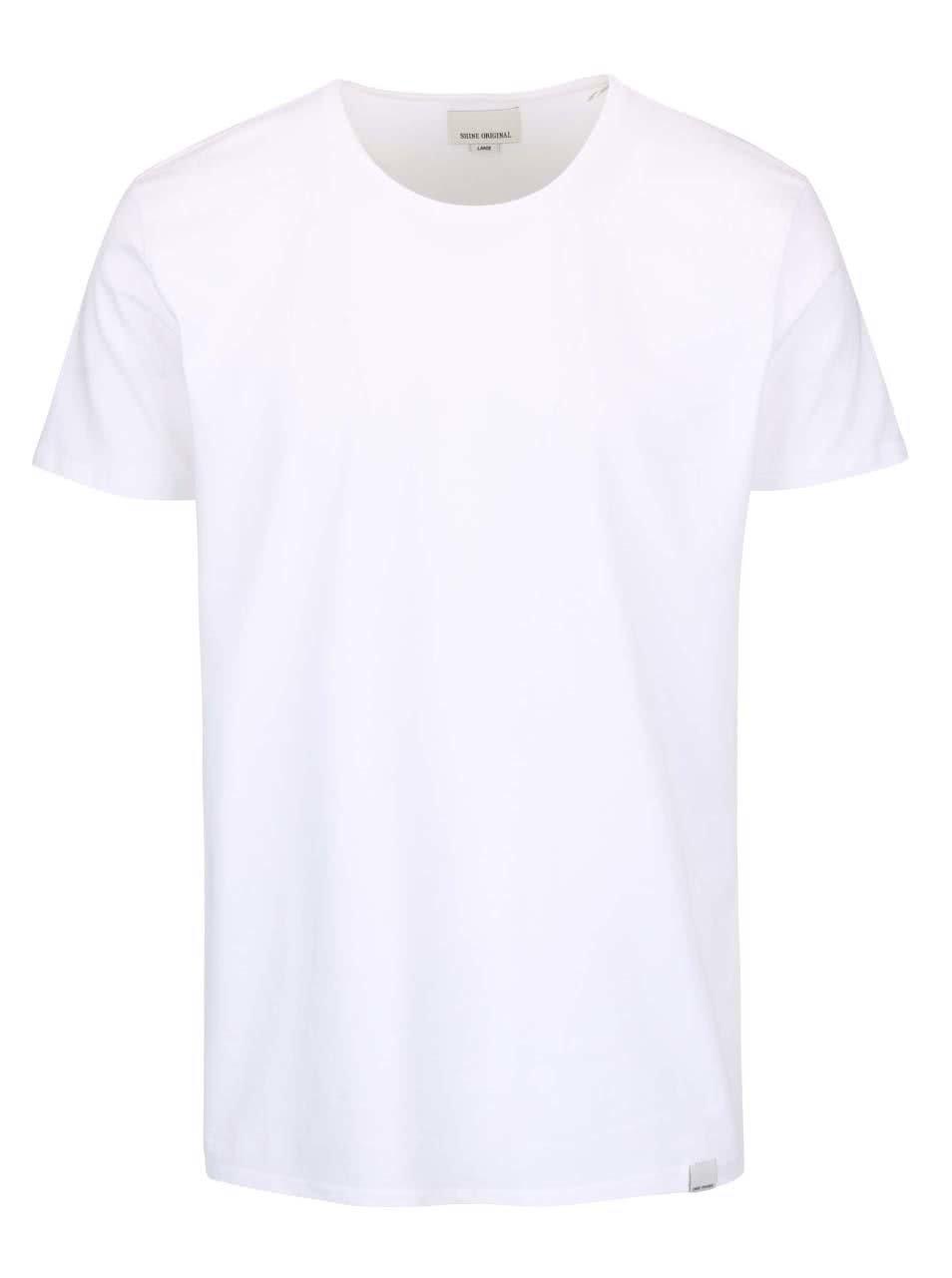 Bílé triko s kulatým výstřihem Shine Original