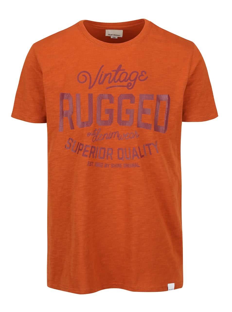 Oranžové triko s potiskem Shine Original