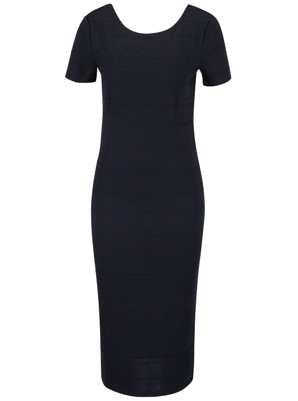Tmavě modré dlouhé šaty se vzorem ONLY Charlene