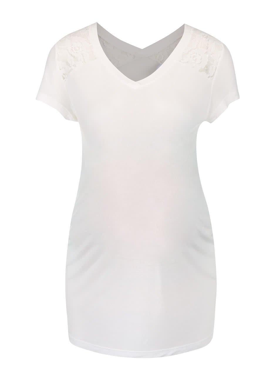Krémové těhotenské tričko Mama.licious Quick