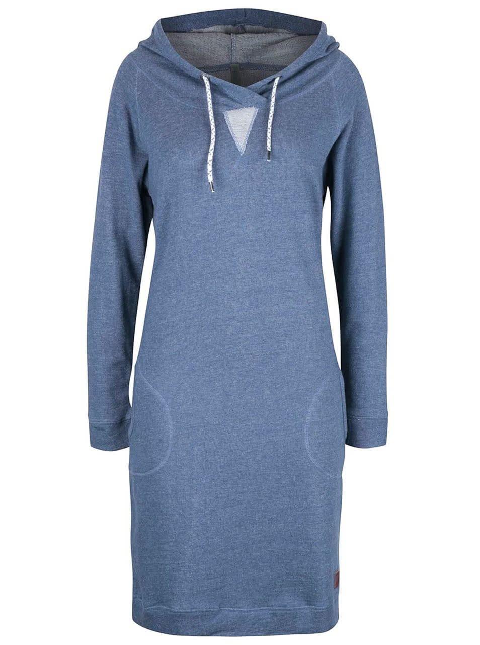 Modré žíhané mikinové šaty s kapucí Tranquillo Sportiva