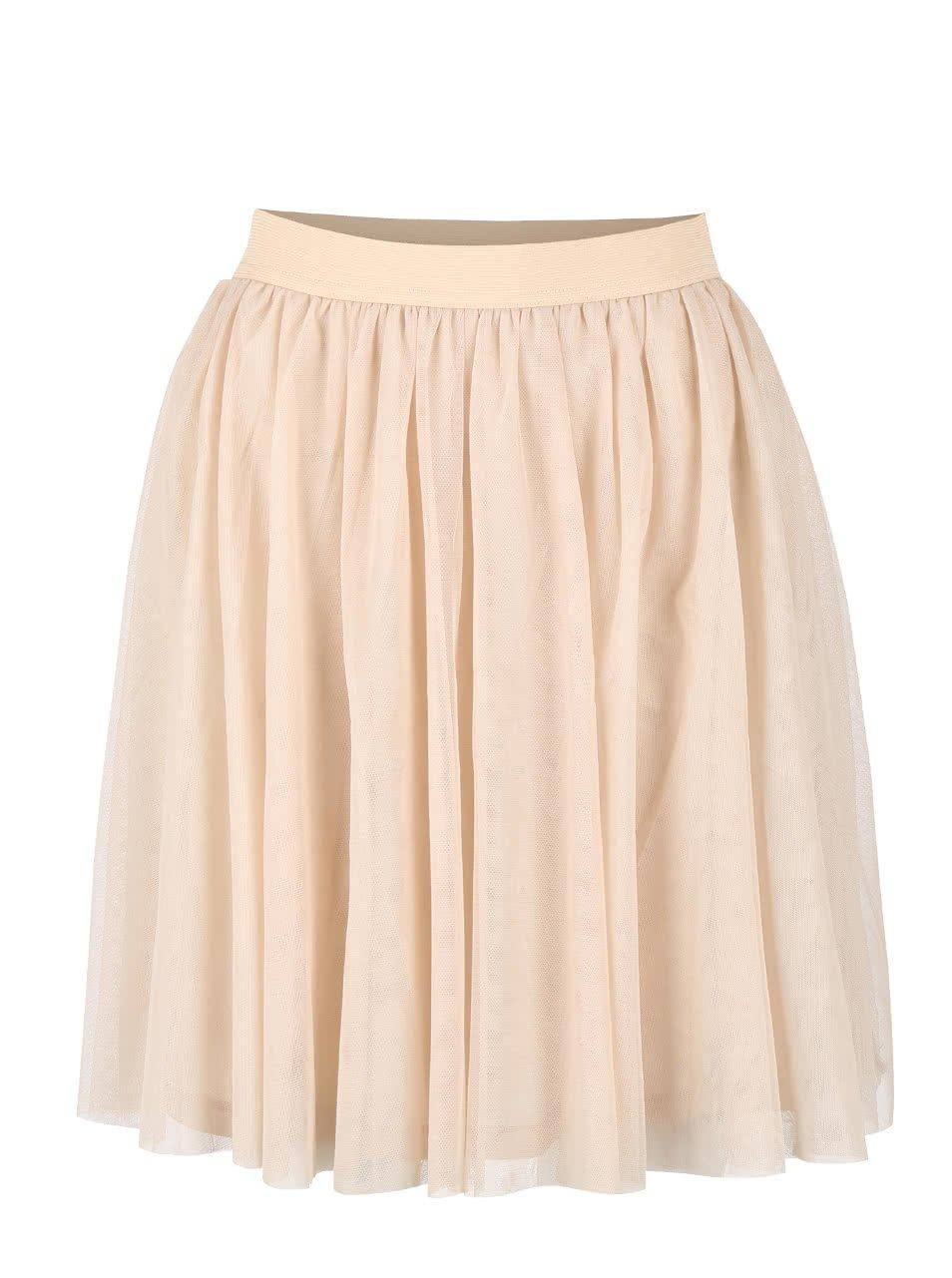 Béžová tylová sukně VILA Rokas