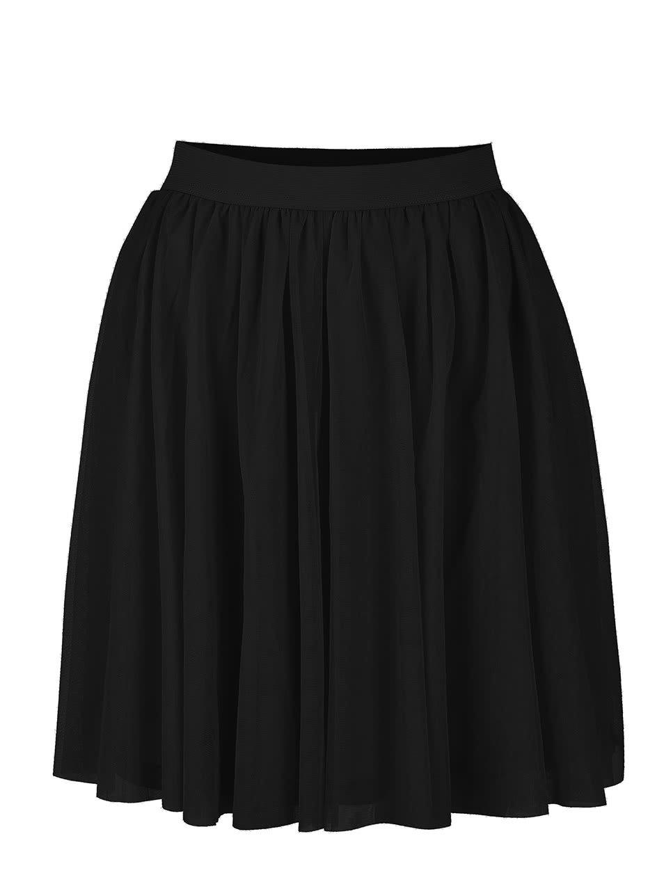 Černá tylová sukně VILA Rokas