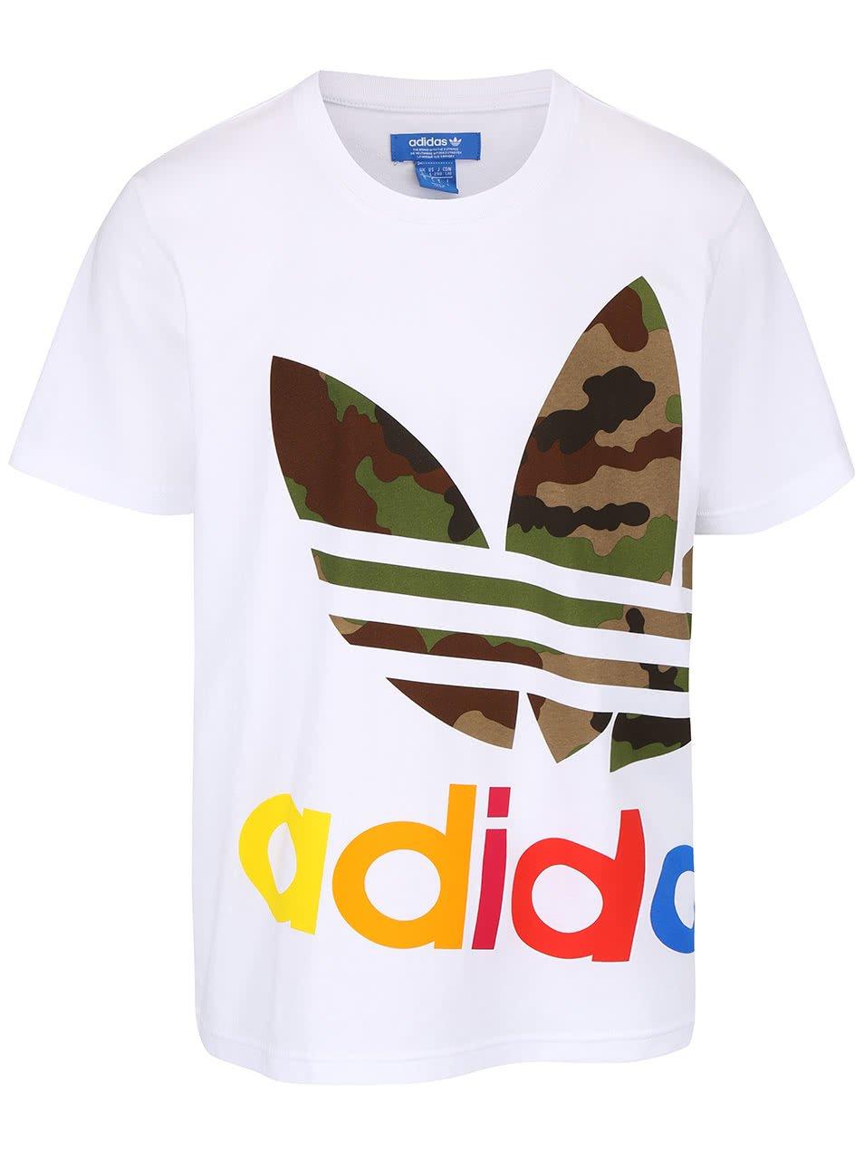 Bílé pánské triko s potiskem adidas Originals