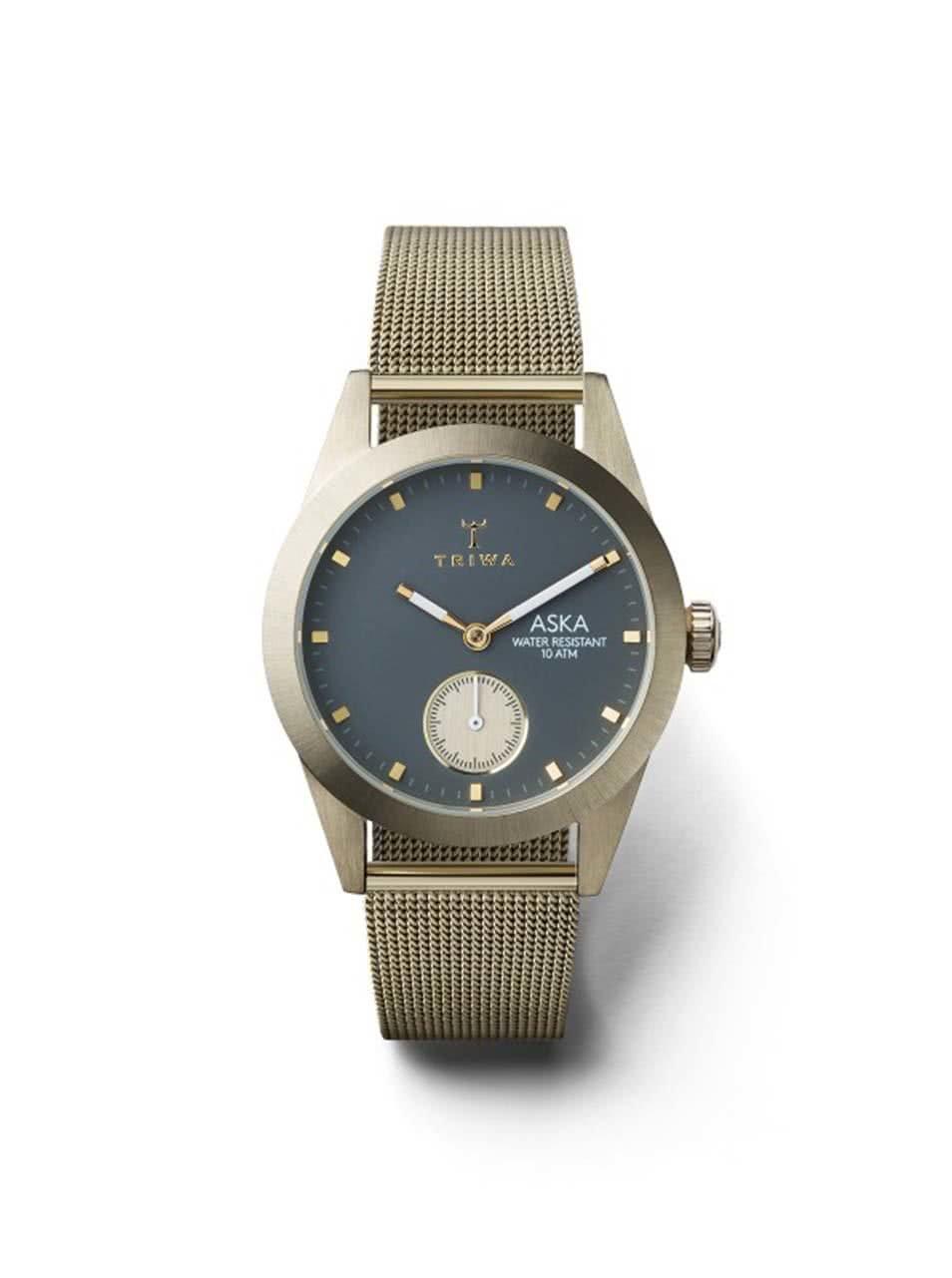 Dámské hodinky ve zlaté barvě s nerezovým páskem TRIWA Ash Aska