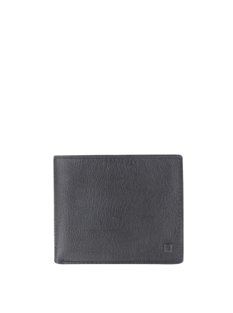 Černá kožená pánská peněženka Rip Curl K-Roo Icon 2 in 1