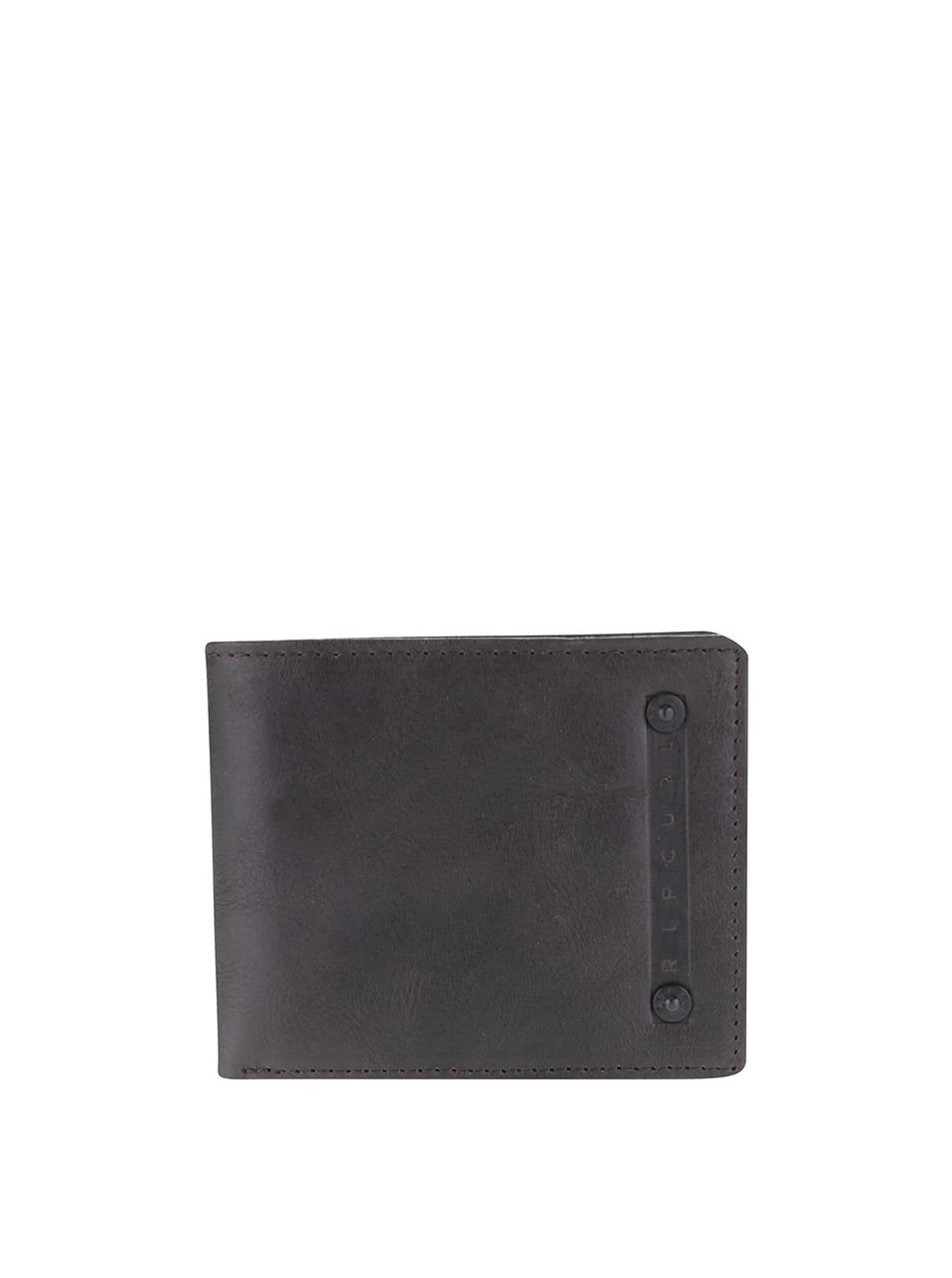 Hnědá pánská kožená peněženka Rip Curl Clean 2 in 1