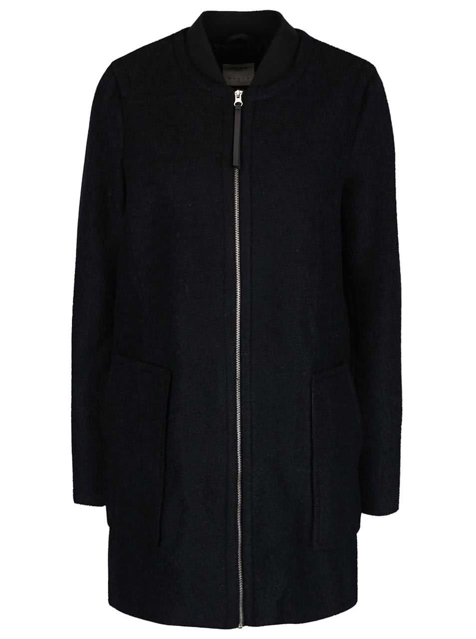 Černý kabát s kapsami VERO MODA Antonia
